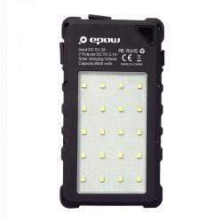 chargeur solaire randonnée - EPOW 8000mAh-lampe UV
