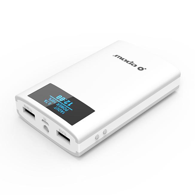 Batterie externe EPOW 10000mah affichage digital heure et niveau batterie