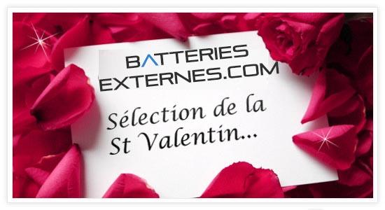 Idée cadeau St Valentin- Plus de bisous avec la batterie externe
