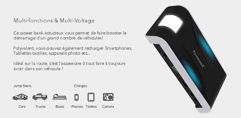 description 1 jumper-batterie de secours demarrage voiture-13000mah-grande capacité powerseed description