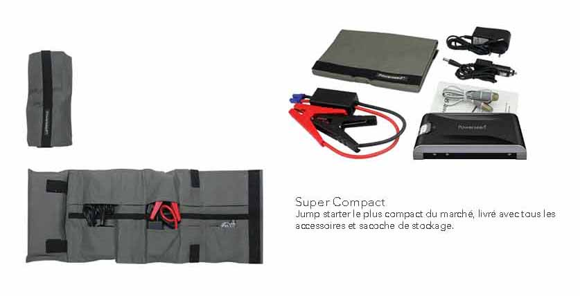 description sacoche jumper-batterie de secours demarrage voiture-13000mah-grande capacité powerseed description
