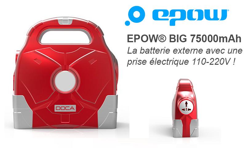 la batterie externe 220v rechargeable epow big 95000mah. Black Bedroom Furniture Sets. Home Design Ideas