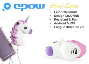 epow-licorne-batterie-externe-licorne-cadeau de noel original