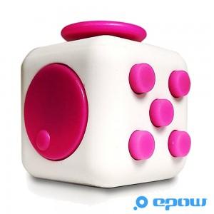 cadeau fete des meres 2017 fidget cube rose et blanc-dé anti stress-EPOW