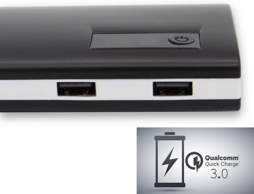 epow 13000mah batterie externe quick charge 3