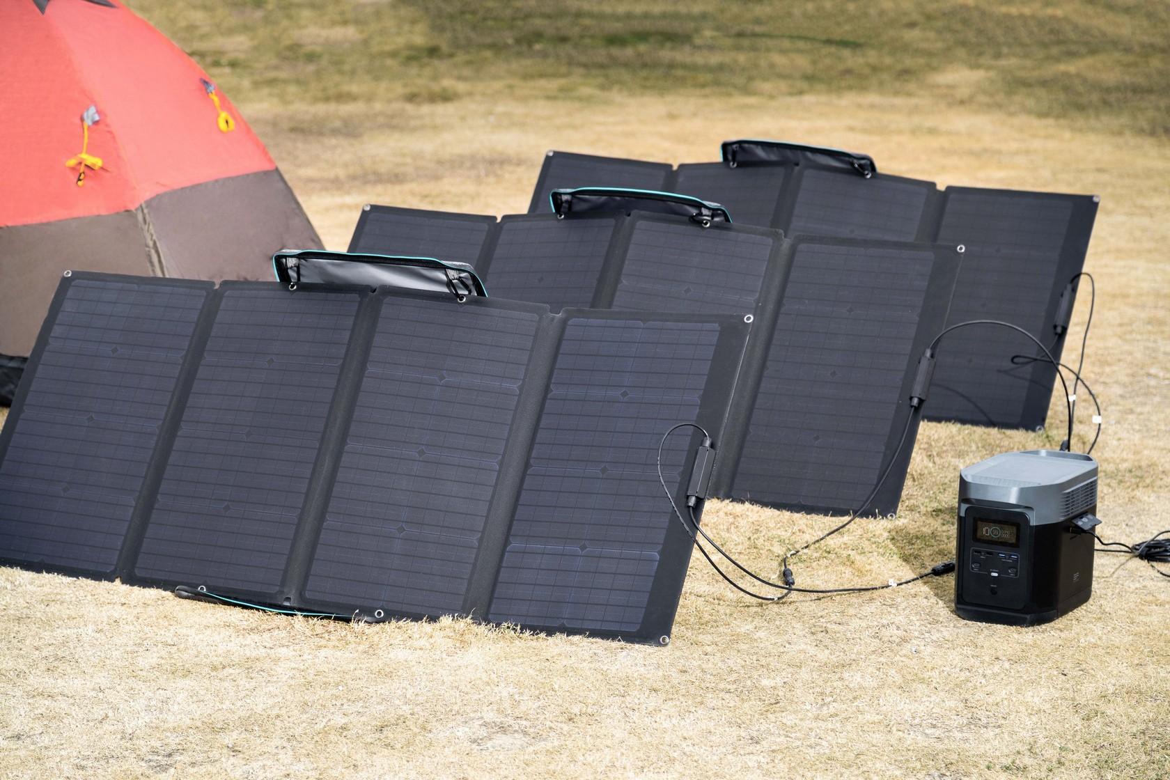 Panneau solaire 160W ecoflow avec batterie delta