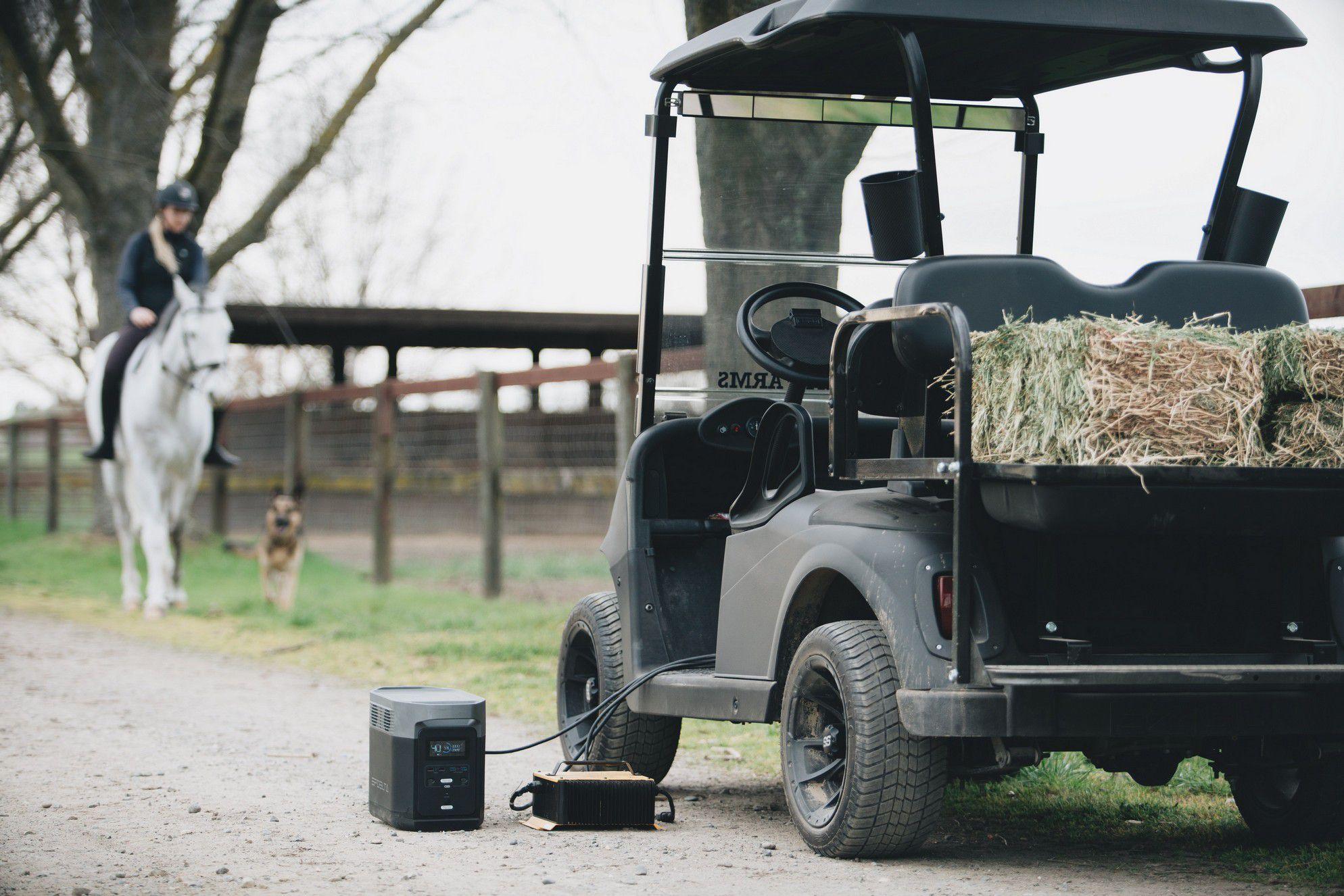 Batterie externe générateur électrique solaire 1800W voiture électrique jardinage bricolage BTP camping