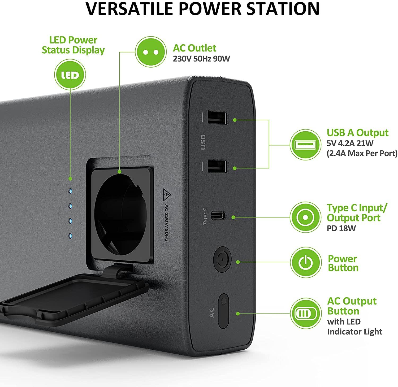 Batterie de secours Powerbank 24000mah universelle pour ordinateurs