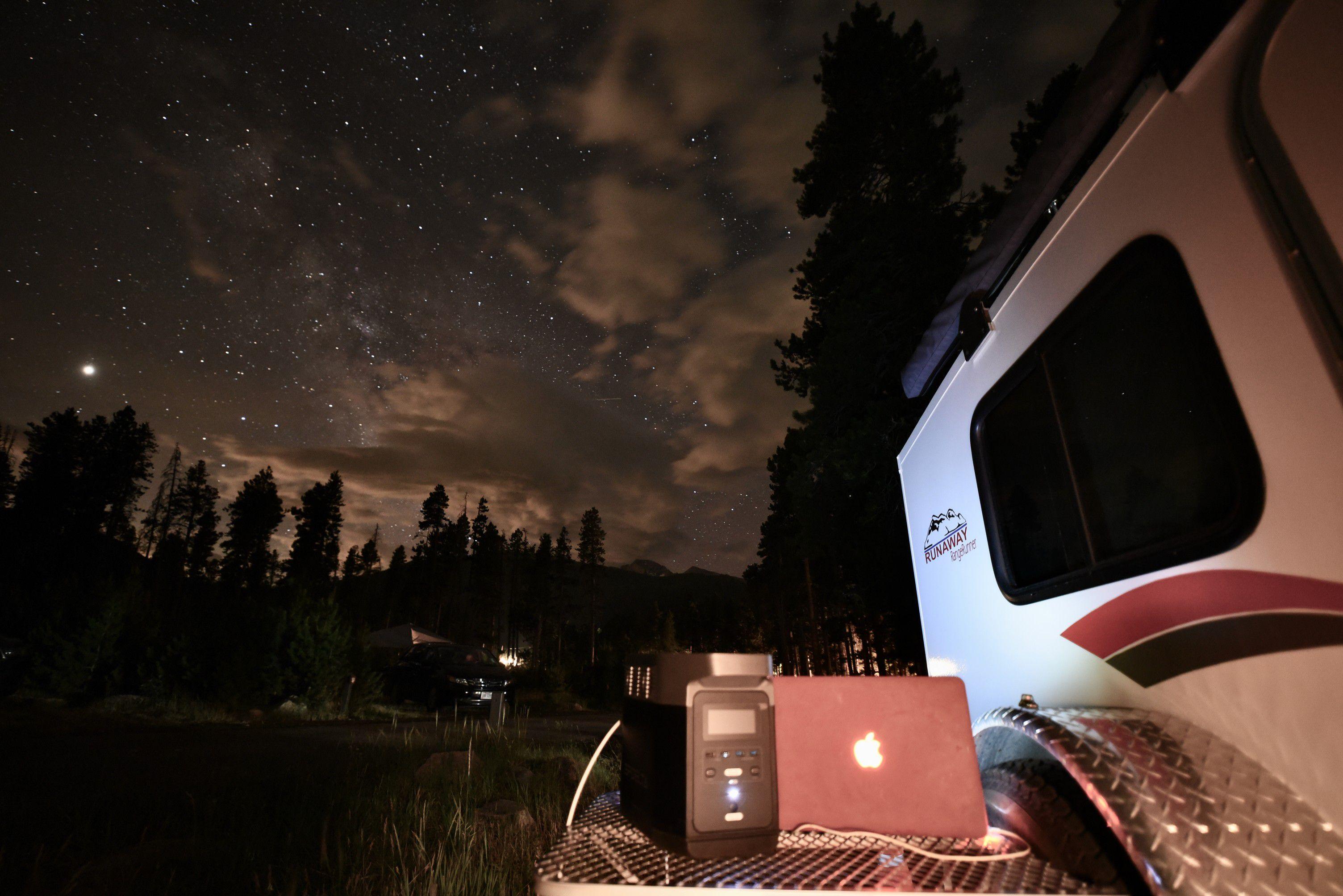 Batterie back up ecoflow 220V grande capacité 1800W camping van camping-car