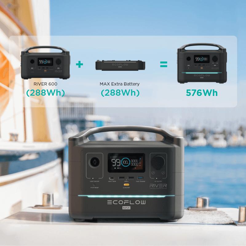 Batterie 220V camping car van River 600W