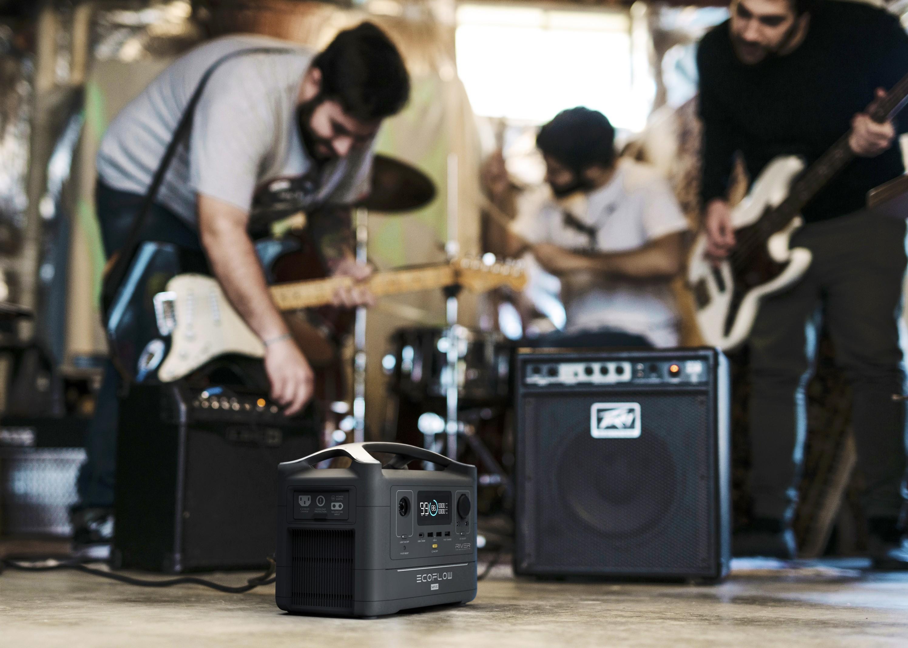 musique event salon marché ambulant ecoflow river max batterie portable 220V
