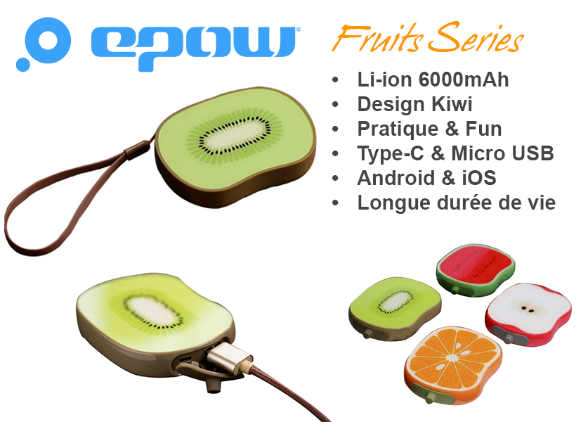 epow emoji fruits series kiwi batterie externe kiwi caracteristiques