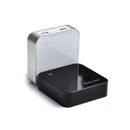 batterie externe 6600mah blanc affichage digital compatible universelle