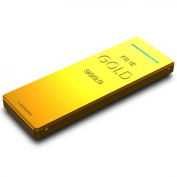 batterie externe lingot d 39 or 9000mah gold power bank ultra slim. Black Bedroom Furniture Sets. Home Design Ideas