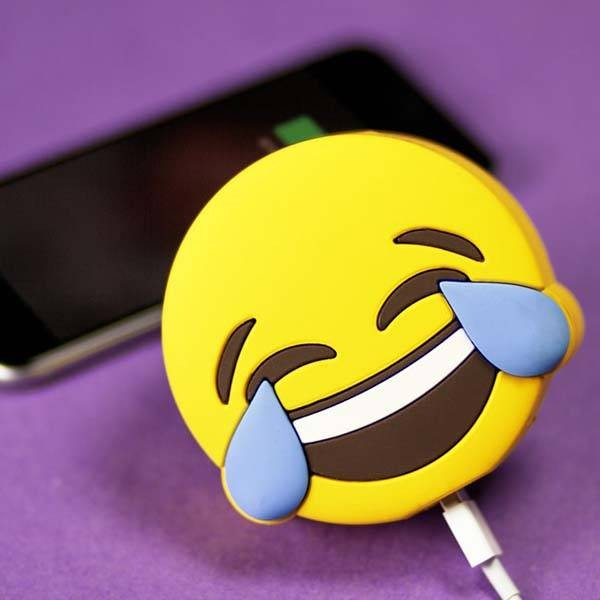 Epow Batterie Externe Emoji Rire Emoticone Smiley Lol 2600mah