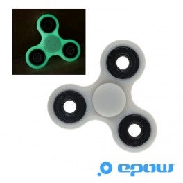 Fidget-hand spinner-phosphorescent-fluo-vert-EPOW®-brille nuit