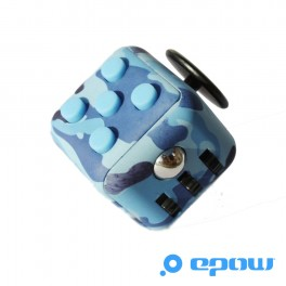 objet geek cube satisfaction camouflage bleu epow