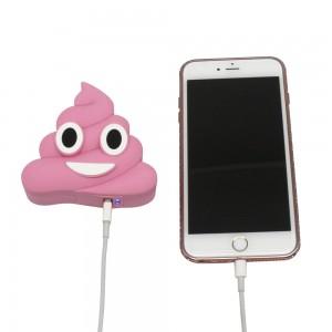 power bank portable emoji caca glace rose chargeur Epow 2600mahfun