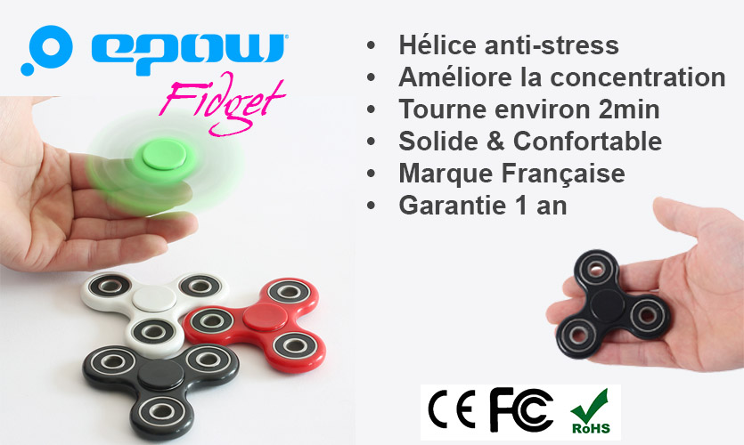 hand spinner epow achat fidget spinner anti stress pas cher. Black Bedroom Furniture Sets. Home Design Ideas